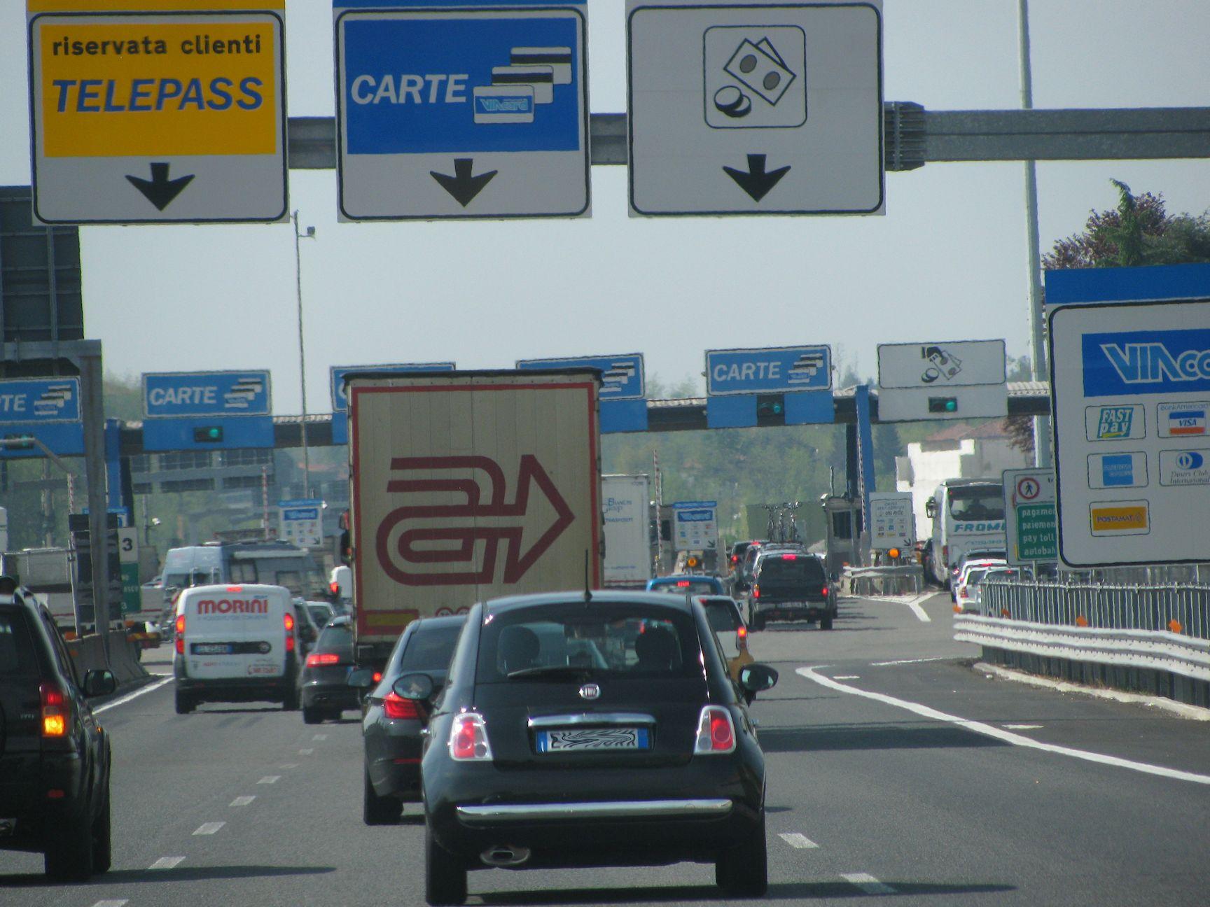 olasz autópályák